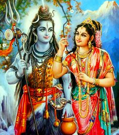 Shiva is the God of the yogis, self-controlled and celibate, while at the same time a remarkable lover of his spouse. Shiva Parvati relationship is depicted in many forms. Lord Shiva Pics, Lord Shiva Hd Images, Shiva Lord Wallpapers, Lord Shiva Family, Shiva Shakti, Shiva Parvati Images, Shiva Art, Krishna Art, Durga Maa