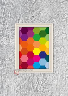 Instant Download    geometric colorful hexagon poster ll digital print    home decor    wall decor print ll art printable ll abstract poster by BestDesignland on Etsy https://www.etsy.com/listing/207706779/instant-download-geometric-colorful