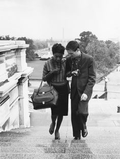Nina Simone and her husband, Don Ross. 1959. Photo by Ellsworth Davis