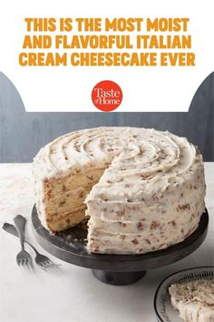 Potluck Desserts, Party Desserts, Just Desserts, Delicious Desserts, Yummy Food, Italian Cream Cheese Cake, Cake With Cream Cheese, Cake Mix Recipes, Cheesecake Recipes