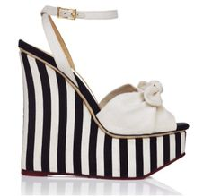 Striped wedges #fashion  ~very cute~ <3 wedges~