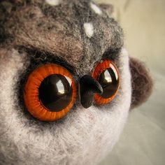 Совушка. #валяние #войлок #авторская_игрушка #интерьерная_игрушка #совушки #совы_рулят #хэндмейд #фильцнадель #фельт #felt #naaldvilten #needlefelting #handmade #owl #my_toys by cho_oyu