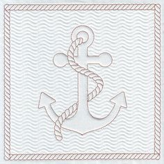 Quilt Anchor embroidery design Nautical Embroidery Pattern