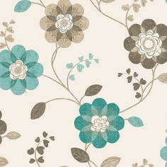 Pavilion wallpapers and scarlett o 39 hara on pinterest - Teal wallpaper wilkinsons ...