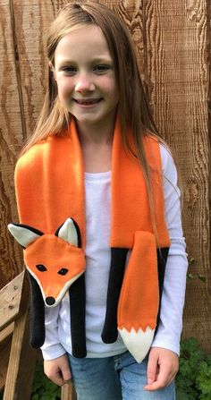 15 Ideas For Sewing Animals Easy Kids Sewing To Sell, Sewing For Kids, Sewing Tips, Sewing Projects, Clothes Crafts, Sewing Clothes, Sewing Scarves, Woodland Animals Theme, Fox Scarf