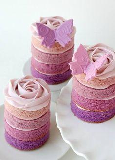 Small rainbow cakes