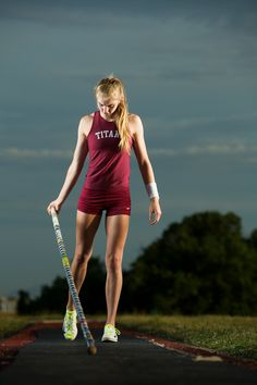 Andrea - Track and field pole vault senior portrait by dave+sonya photography in Colorado Springs