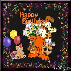 Garfield Happy Birthday Pictures   Happy Birthday / Geburtstagsgrüße Picture #121563699   Blingee.com