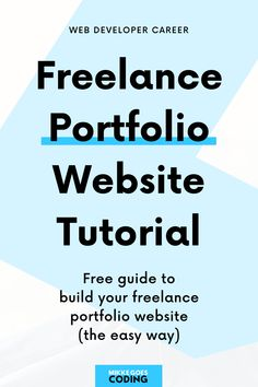 Portfolio Web Design, Portfolio Website, Web Developer Portfolio, Website Tutorial, How To Make Money, How To Become, Web Development, Highlights, Wordpress
