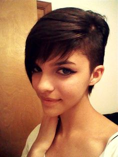 Like this hair cut it's like a pixy cut but Skrillex style too