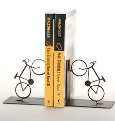 Road Bicycle Bookends Cycling Home Decor by ShineOnSportyGirl, $35.00