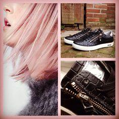 Zwarte dikke zool sneakers van Aqashoes!