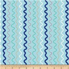 Riley Blake In The Ocean Stripes Blue