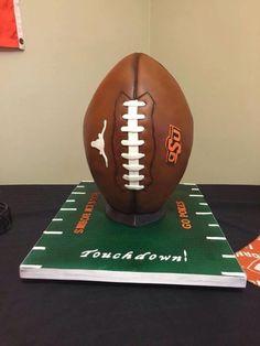 Texas/OSU Football Cake - Cake by RedHeadCakes