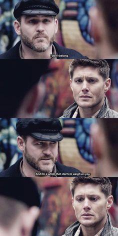 Benny, you DO belong (one of the saddest moment on Supernatural...I cried). I hope he comes back :'(