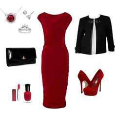Gorgeous red, created by Rika on Polyvore