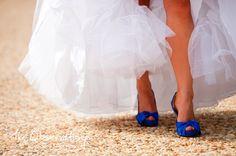 Won't lie. Love the blue under the big day's dress :)
