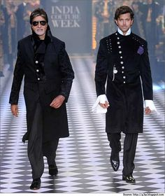 #Amitabh Bachchan has also walked the ramp with #Hrithik Roshan