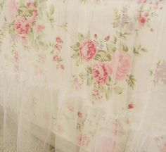 Shabby princess chic country white rose floral duvet cover king