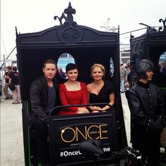 Prince Charming, Snow, and Emma take on Comic-Con #OnceUponATime #SDCC @ San Diego Comic-Con International 2012
