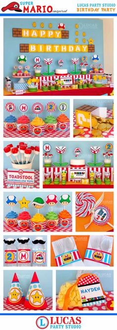 Super+Mario+Inspired+Birthday+Party++DIY+by+LucasPartyStudio,+$35.00