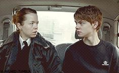 I am the cop and this is when I meet Thomas Brodie-Sangster  #IAmASangsterGangster