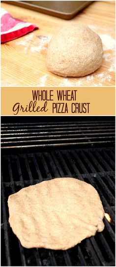 Whole Wheat Grilled Pizza Crust. Pizza on the grill is surprisingly easy and delicious. This whole wheat pizza crust is not only healthy, bu...