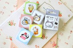 cats cartoon cute shapes stickers ver 02