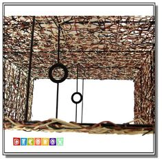 DecoBox南洋風三色藤長方形立燈-不含燈泡線材(產地越南)