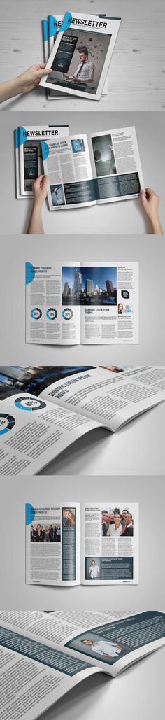 This is a modern and professional template for a newsletter. Get it now. Multipurpose Newsletter Brochure Template