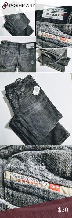 427c379c Diesel Bebel Boot Cut Grey Distressed Jeans Diesel Industry Jeans. Made in  Italy. Factory