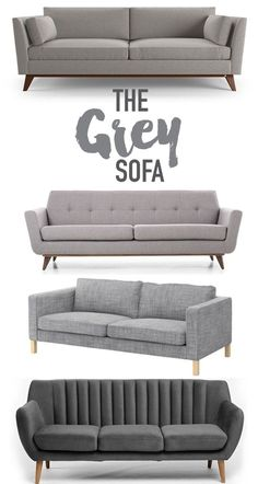 Reasons why you should buy a classic grey sofa for your living space. Grey is a neutral color that works well with many passing design trends and styles. Living Room Grey, Living Room Sofa, Home Living Room, Living Room Designs, Living Room Furniture, Grey Sofa Design, Grey Sofa Decor, Sofa Furniture, Furniture Shopping