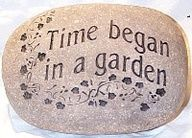 Time began in a garden