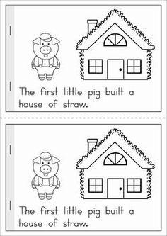 The Three Little Pigs Emergent Reader 3 Little Pigs Activities, Rhyming Activities, Preschool Literacy, Book Activities, Kindergarten, Three Little Pigs Story, Nursery Rhymes Preschool, Fairy Tales Unit, Fairy Tale Theme