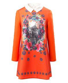 Vintage Pattern Print Dress
