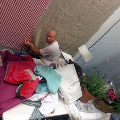 Aufbau unseres Messestands auf der Children's Fashion Cologne 2013. Los geht's. Noch viel zu tun...