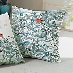 Origami Boats & Waves Cushion | Culture Vulture Direct