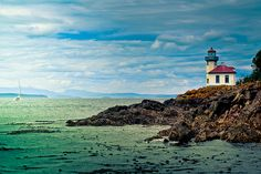 Lime Kiln Lighthouse on San Juan Island, Washington State
