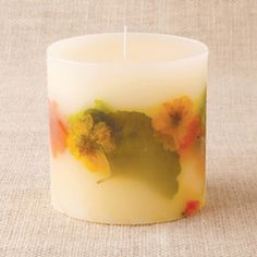 bee wax candles candle for lanterns wind lights and decoration Pillar candle from beeswax wrapped with blossoms and Easter bunny