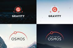 10 Futuristic Logos Pack by fortyfive on @creativemarket