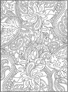 3-D Coloring Book--Paisley Designs Welcome to Dover Publications
