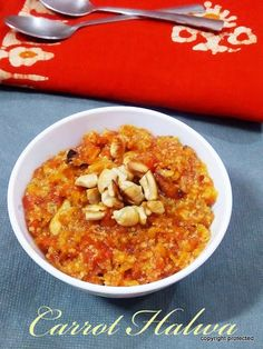 Carrot #halwa or gajar ka halwa - a classic Indian #dessert.. serve it warm or chilled.