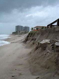 Vero Beach, Florida Beach erosion from Hurricane Sandy.