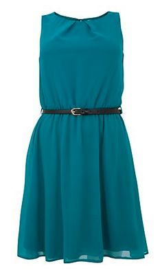 Chiffon Petrol Sleeveless Dress @ New Look <3