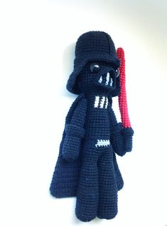 This is a PDF CROCHET PATTERN, NOT THE FINISHED DOLL. DARTH VADER, is my tribute version of the Star Wars saga movie character so you can crochet your own doll. The patterns is suitable for both beginners and more experienced crafters. Required skills for this pattern: magic loop, crocheting in spiral, color changing, increase, decrease and the basic crochet stitches, single crochet and double crochet. If you have any quiestion about the pattern, feel free to contact, me, i will be happy…