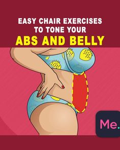 Chair Workout Tone Your ABS and Belly - Workout Challenge - Tummy Workout, Abs Workout Routines, At Home Workout Plan, Workout Videos, Gym Workouts, At Home Workouts, Fitness Po, Fitness Video, Yoga Fitness