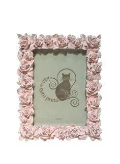 A Loja do Gato Preto | Moldura Rosas Rosa #alojadogatopreto