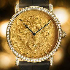 O relógio Cartier Rotonde Panthere Granulation