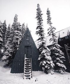 Steep A-frame | Anchor & Bolts #mountainlife #cabin #forest #snow /