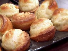 Get Yorkshire Puddings Recipe from Food Network - Recipe courtesy of Anne Zubaidi, Tomahawk Restaurant